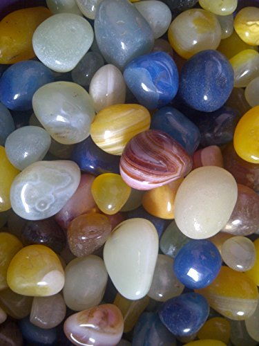 Payal Multicolor Onyx Pebbles für Zuhause, Büro (11lbs, zufällige) (Indoor-pflanzgefäße-keramik)