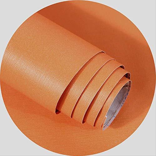 Nordic Wohnzimmer Warm Wasserdicht Pvc Hintergrund Wandpapier, Verdickte Reine Pigment Tapete Selbstklebend 0,6X3m Vibrant Orange -