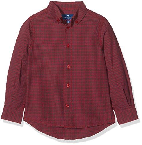 TOM TAILOR Kids Jungen Hemd Casual Shirt, Rot (Grunge Red 5479), 122