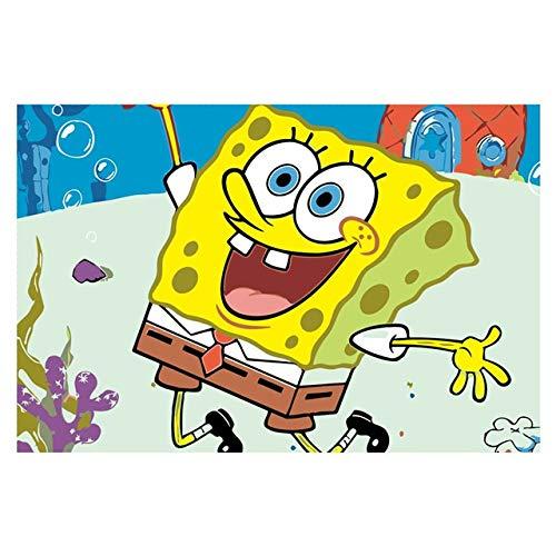 wangyanming Spongebob Ölgemäldesets Malen Nach Zahlen Modul Bilder Von Hand Einzigartiges Geschenk Wohnkultur Für Kinder (Vollständige Digitale Abbildung)