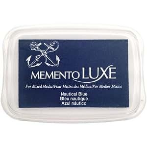 Memento Luxe grandeur nature nautique-tampon encreur bleu