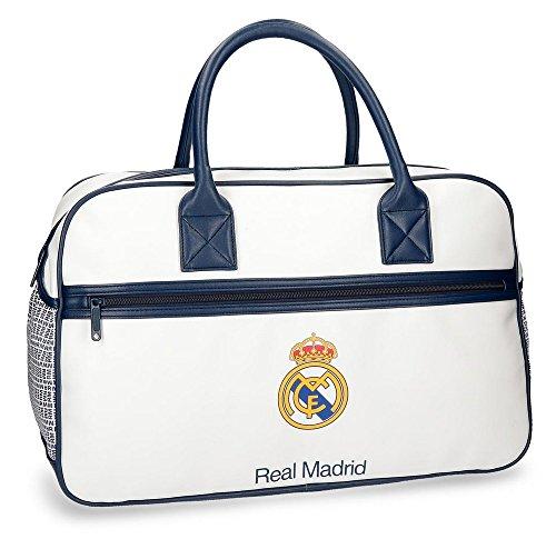 Real Madrid RM Leyenda Bolsa de Viaje, 49 cm, 29.79 Litros, Blanco