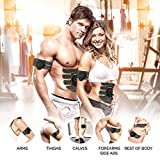 essence Abdominal Abs Trainer & Muscle Toner Ems Stimulator Machine - Includes Skin Tape & 6 Replacement Gel Pads + Bonus Full Body & Neck Tens Massager - Fitness Training & Rapid Muscles Toning