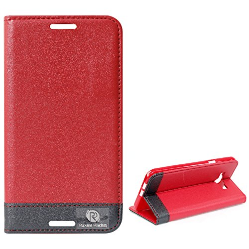 DMG Samsung Galaxy A8 Flip Cover, DMG PRaiders Premium Magnetic Wallet Stand Cover Case for Samsung Galaxy A8 (Red)