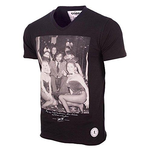 George Best Playboy Bunnies T-Shirt (Black)