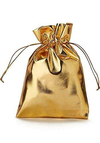 30 bolsitas opacas de tela organza, bolsas de organza color dorado metálico, bolsas para regalos,...