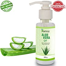 KAZIMA Aloe Vera Gel Raw - 100% Pure Natural Gel - Ideal for Skin Treatment, Face, Acne Scars, Hair Treatment, Moisturizer & Dark Circles (200 Gram)