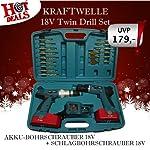 neilsen CT0585 18 V Cordless Screwdriver Power Tools Plus Drill Bits Kit - Black