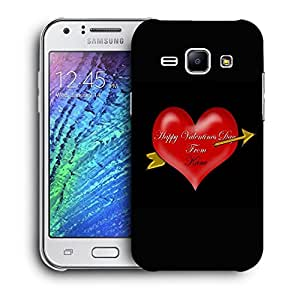 Snoogg Happy Valentines Day Designer Protective Back Case Cover For Samsung Galaxy J1