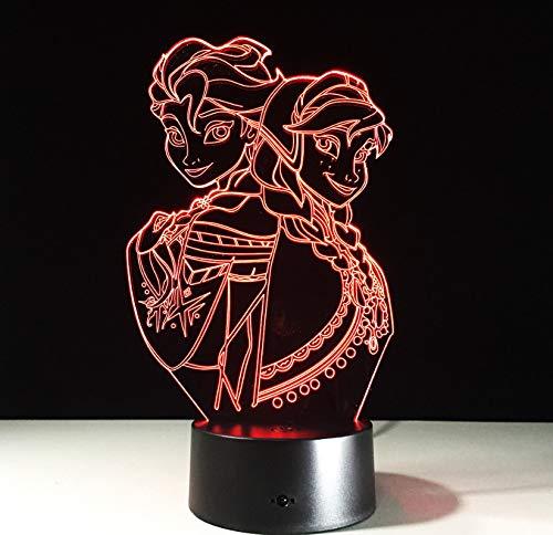 Farbe der Karikatur-Puppe 7 führte Nachtlicht-Mädchen-Partei-Geschenk des Farben-Nachtlicht-3D