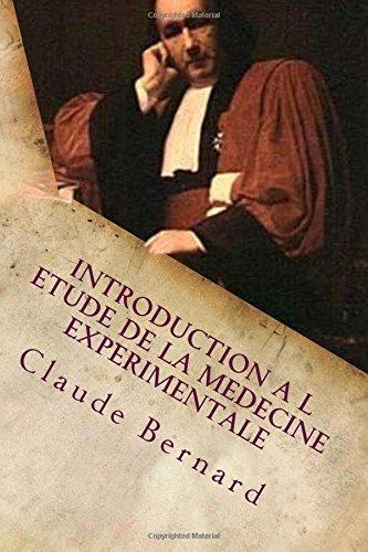 Introduction a l etude de la medecine experimentale