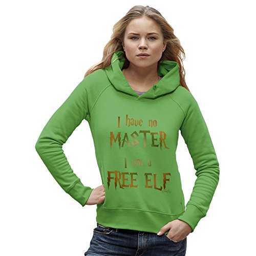 TWISTED ENVY Women's I Have No Master, I Am A Free Elf Hoodie