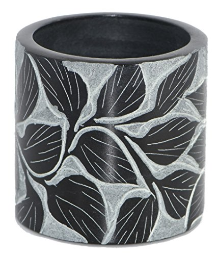Leaf Incisione Pietra Ollare Tealight Holder