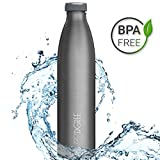 720°DGREE Edelstahl Trinkflasche milkyBottle- 750ml, 0,75l | Isolierflasche Schmal | Thermosflasche Auslaufsicher | Perfekte Outdoor Thermoskanne für Kinder, Schule, Sport, Training, Fitness, Gym