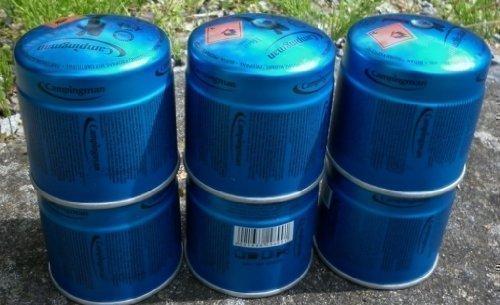 Preisvergleich Produktbild 6 x Campingman 29699 Gaskartuschen Butangas Gas Kartuschen Stechkartusche 190g