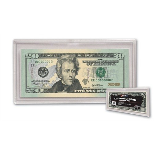 (25) US Currency Paper Money Bill Protector Slab Holder for Regular Bills by BCW by BCW