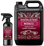 Dirtbusters Waterless Car Wash and wax cherry fragrance 5 litres + 500ml spray