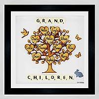 Grandparents Gift Grandchildren. Family Tree Personalised Grand children frame. Framed Family Tree. Christmas Present Gift for Grandparents. Grandchildren family tree 3d picture