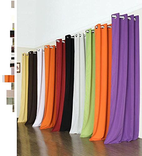 Vorhang Blickdicht Schal mit Ösen aus Microsatin, matt, 245×140, Schwarz - 2
