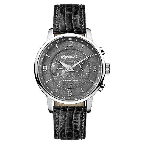 Ingersoll Herren Analog Quarz Uhr mit Leder Armband I00601
