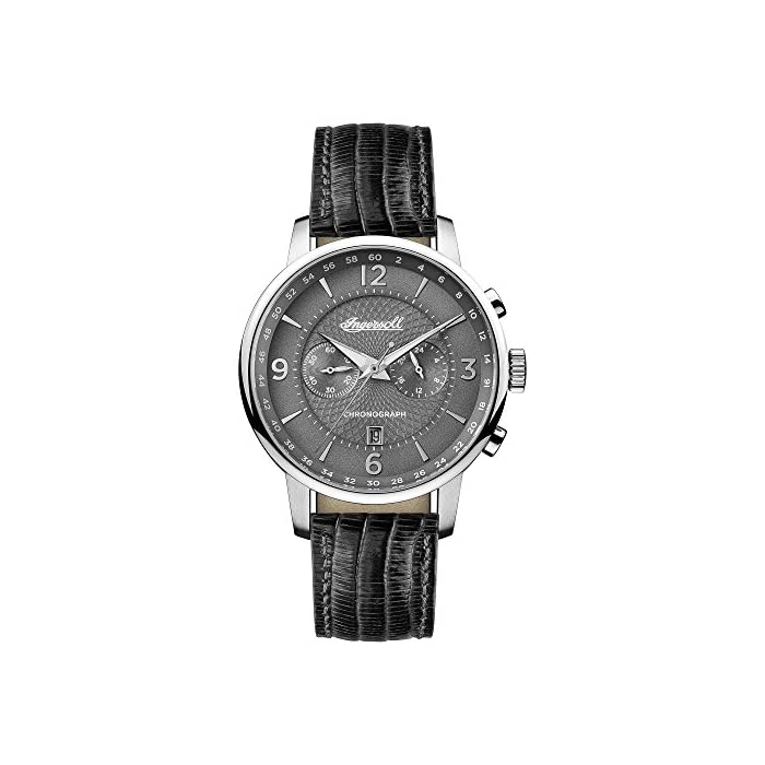 Ingersoll Herren Analog Quarz Uhr mit Leder Armband I00601 1