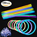 Glow Sticks, [100 Packs, Multi-Color]E2Buy Light Sticks Bracelets (Mixed) produced by E2Buy - uk online web store