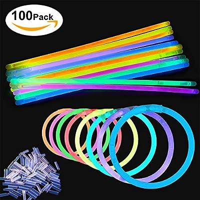 Glow Sticks, [100 Packs, Multi-Color]E2Buy Light Sticks Bracelets (Mixed) produced by E2Buy - uk online web store