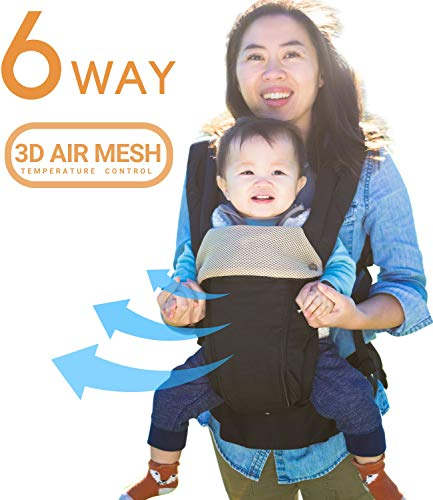 All Seasons 360 Ergonomic Baby Carrier - 6 Position, Easy Breastfeeding, No...