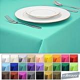 Rollmayer Tischdecke Tischtuch Tischläufer Tischwäsche Gastronomie Kollektion Vivid (Mint 47, 140x220cm) Uni einfarbig pflegeleicht waschbar 40 Farben
