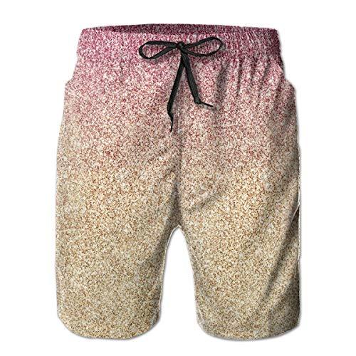 Nacasu Men's Summer Surf Short Swim Trunks Quick Dry Pants with Pockets for Mans M