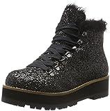 Buffalo Shoes Damen 15B69-1 Glitter Kurzschaft Stiefel, Schwarz (Black 01), 38 EU