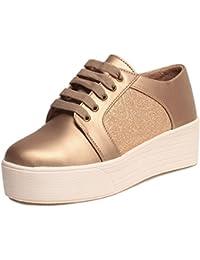 Klaur Melbourne Stylish Women Shoes/Sandals/Sneaker/Boots/Block Heels (Gold)