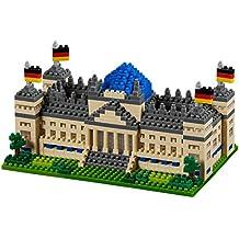 Brixies 410136 - Reichstag de Berlín, Puzzle 3D, Alemania Edición, 651 piezas, el nivel de dificultad 4, muy duro, multicolor
