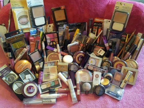 15-piece-lot-of-brand-name-cosmetic-makeup-rimmel-lorealhard-candymaybelline-more-by-covergirl