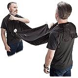 Magnusdeal Beard Apron Hair Catcher For Quick Disposal Of Facial Hair Mess Waterproof & Lightweight (1 Pc) (Black)