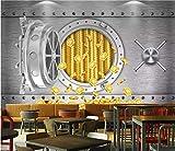 Carta Da Parati 3D Carta Da Parati Foto Murales Carta Da Parati Rotolo Carta Decorazioni Per La Casa Creative Sicuro Lusso Moneta D'Oro Sfondi Per Pareti Soggiorno 3D Foto,180Cm (H) X 260Cm (W)