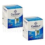 Bayer Contour Teststreifen 2x50er Box 100St. vorm. Bayer Ascensia MHD 02.2020
