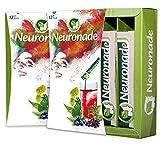 Neuronade ® - Think Drink für Konzentration & gegen Müdigkeit | mit Ginkgo Biloba, Brahmi (Bacopa Monnieri), Rosenwurz (Rhodiola Rosea), Aronia, Biotin, Vitamin B12 & B5 | 100% vegane Nervennahrung