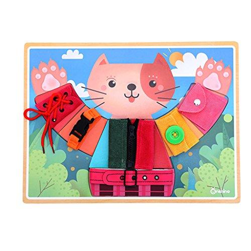 Homyl Diversión Aprender A Vestir Cat Boards Montessori