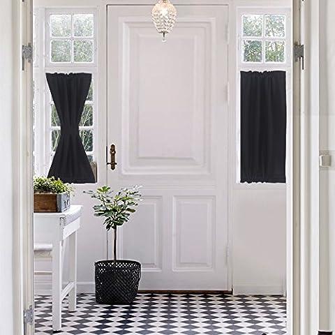 Aquazolax Rod Pocket Thermal Insulated Interwoven Lining Blackout Door Window