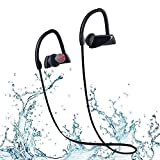 Auricolari Wireless Bluetooth 4.1 Headphone Stereo Cuffie Wireless Per Sport Impermeabile IPX7 con Microfono per Palestra, Corsa, Jogging