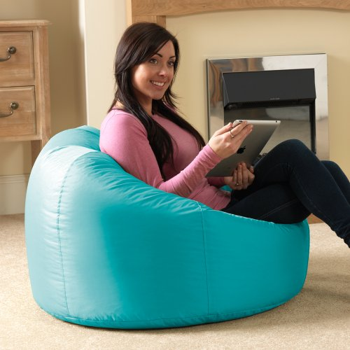 bean-bag-bazaar-panelled-xl-bean-bag-chair-indoor-outdoor-aqua-extra-large-waterproof-bean-bags