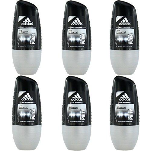 6x 50ml Adidas Dynamic Pulse roll on Deodorante Deo Rollon Deo Drive Uomo Deo
