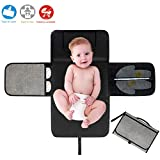 Portable Nappy Changing Mat,Waterproof Foldable baby Changing Kit Soft Pillow Travel Diaper Pad