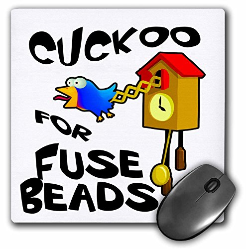 Dooni Designs - Funny Cuckoo For Designs - Funny Cuckoo For Fuse Beads Bird Design - MousePad (mp_201160_1)