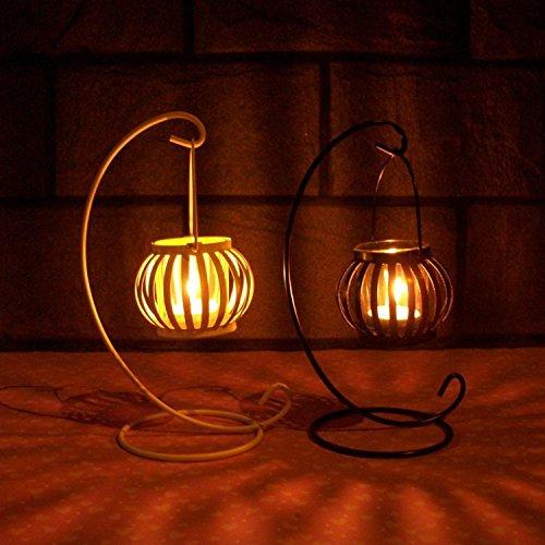 Herzstück Kürbis (MMMM-Vintage Kürbis Kerze-Stil mit schmiedeeisernen Dekoration kreative geschenke geschenk romantische Hochzeit,)