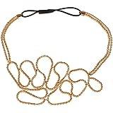 Fashion Women Beauty Gold Knitted Hollow Out Flower Elastic Headband Hair Band (Hollow Headband)