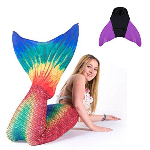 ngfrauenflossen Kostüm Seven Seas Monoflosse Meerjungfrau Flosse Kinder Jugendliche Erwachsene M Violett (Sevens Kostüme)
