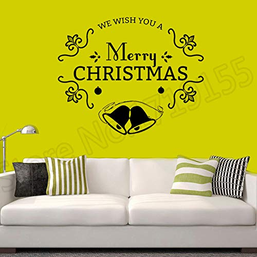 zhuziji Wandtattoo Kreative Dekor Schneeflocke Baum Ball Jahr Schönheit Hause Vinyl Dekoration Für Urlaub Frohe Weihnachten Wand Mu 57X70 cm -
