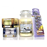 Official Yankee Candle 29 Piece Vanilla Large Jar Gift Set Includes Tea Lights & Vent Sticks
